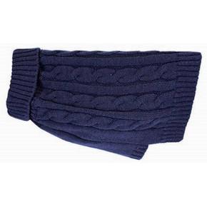 Happy Pet Cable Knit Jumper Blue