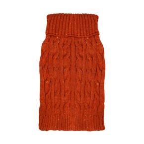 Happy Pet Cable Knit Jumper Terracotta