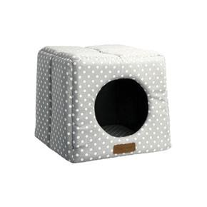 Little Rascals Cosy Cube Grey Spot