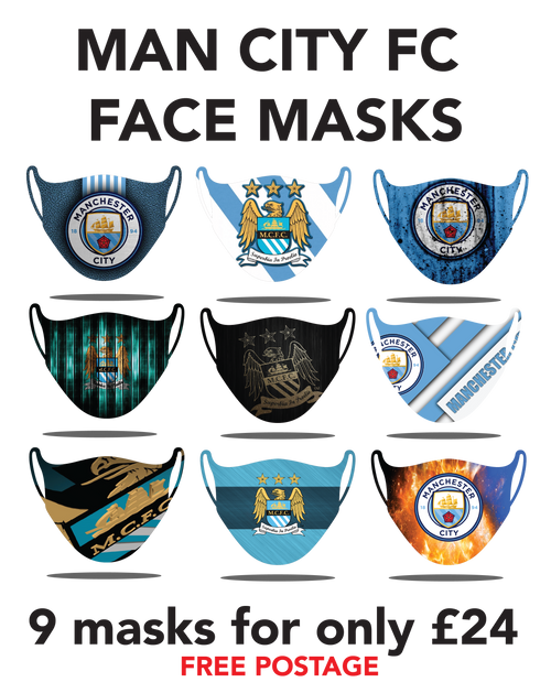 City Protective washable face masks. Fits kids or adults, 9pcs for only 24pounds