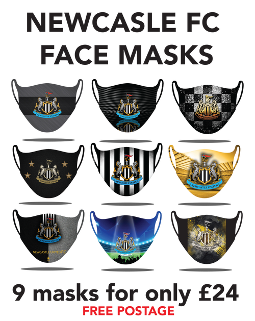 Newcastle Protective washable face masks. Fits kids or adults, 9pcs for only 24pounds