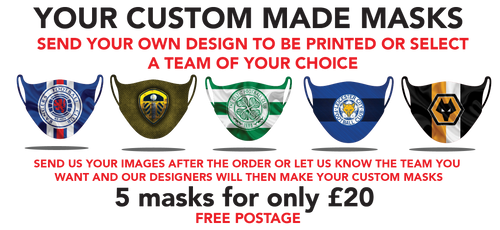 Your Custom Design Protective washable face masks. Fits kids or adults
