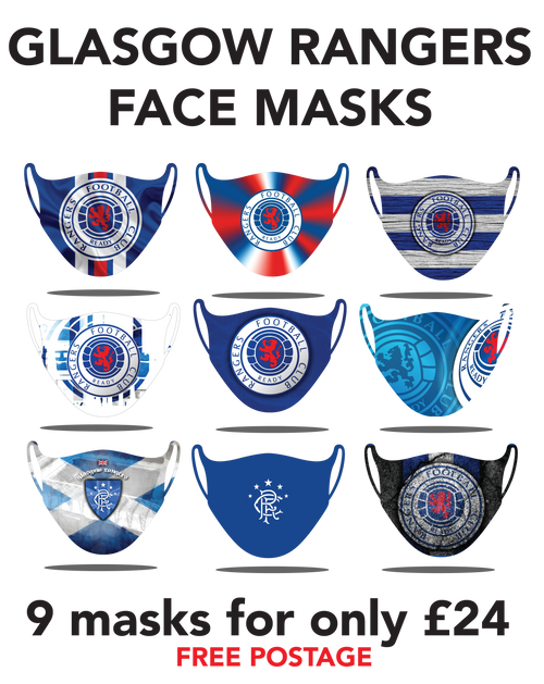 Rangers Protective washable face masks. Fits kids or adults, 9pcs for only 24pounds