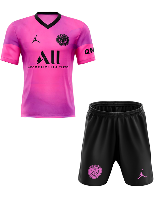 20/21 PSG Training Neon Pink Kids Kit with free name and number
