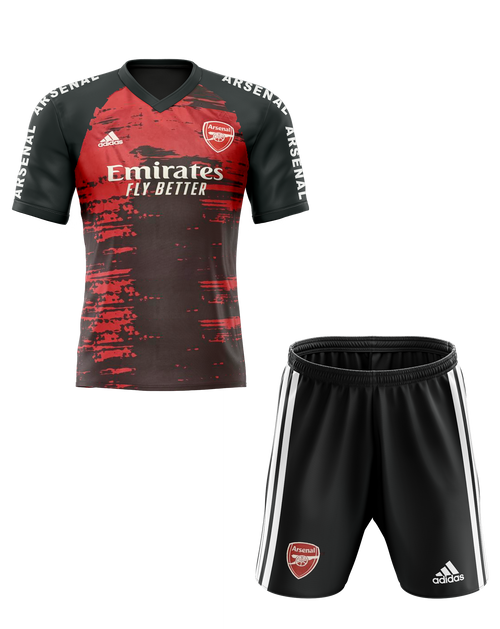 20/21 Arsenal Pre match Kids Kit with free name and number