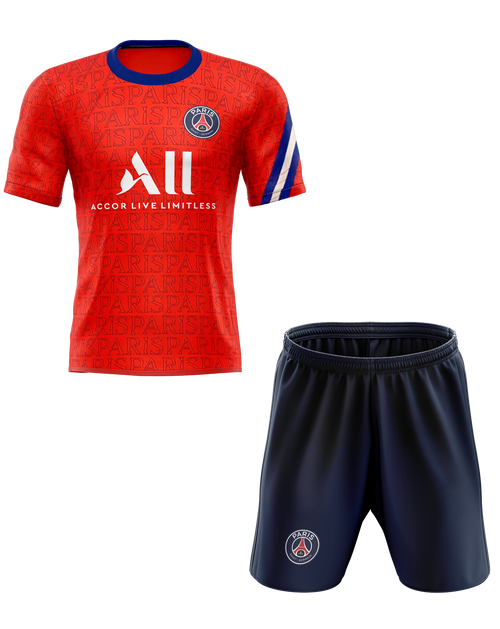 20/21 PSG Training Red Kids Kit with free name and number