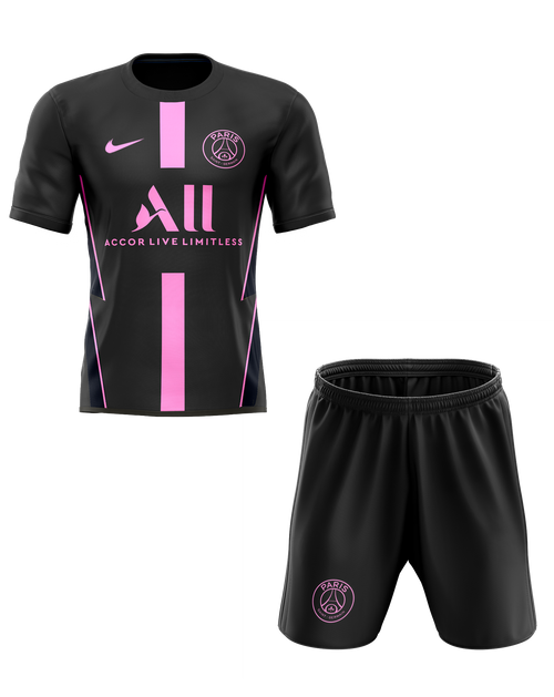 20/21 PSG Training Black Kids Kit with free name and number