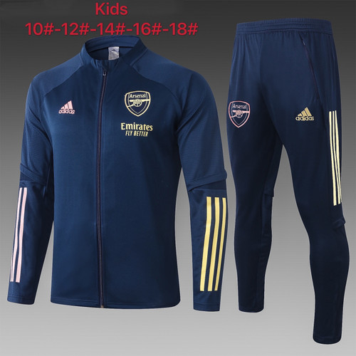 Arsenal kids tracksuit Set Zip Jacket and Trousers Navy