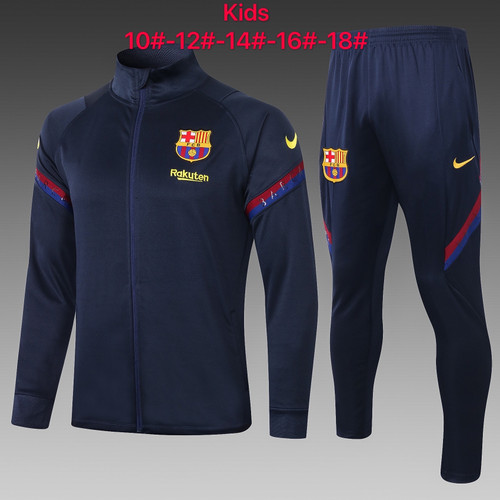 Barcelona kids tracksuit Set Zip Jacket and Trousers Black