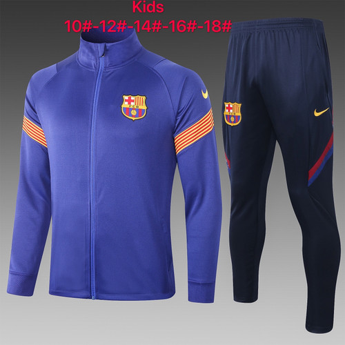 Barcelona kids tracksuit Set Zip Jacket and Trousers Navy