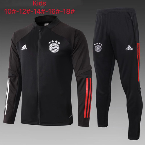 Bayern kids tracksuit Set Zip Jacket and Trousers Black