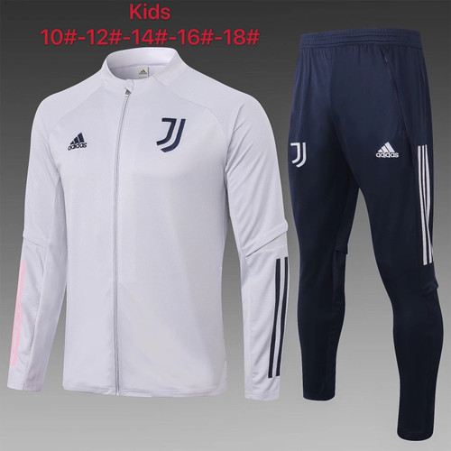 Juventus kids tracksuit Set Zip Jacket and Trousers White