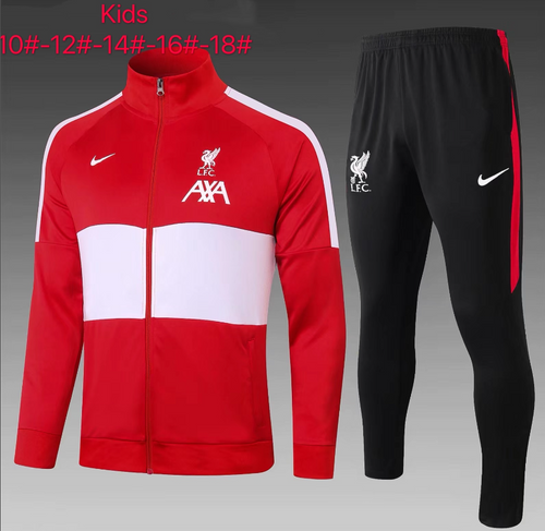 Liverpool kids tracksuit Set Zip Jacket and Trousers Red