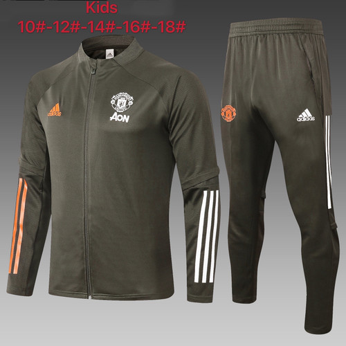 Utd kids tracksuit Set Zip Jacket and Trousers Green