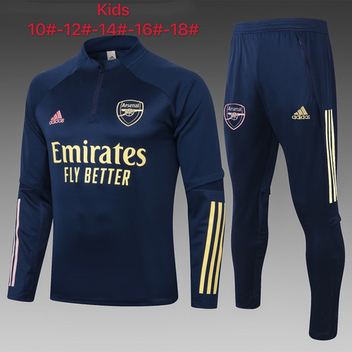 Arsenal kids tracksuit Set half Zip Jacket and Trousers Navy