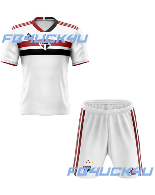 21/22 Sao Paulo Home Kids Kit with free name and number