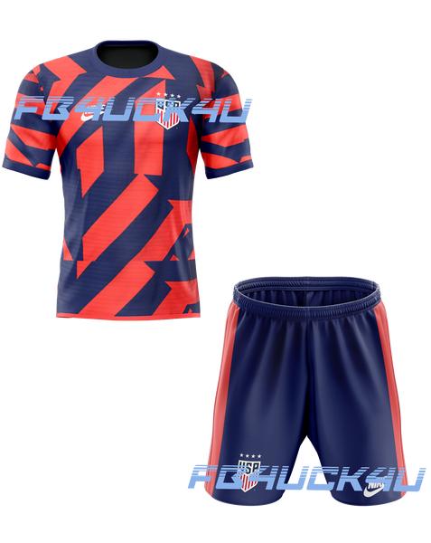 2021 USA Away Kids Kit with free name and number