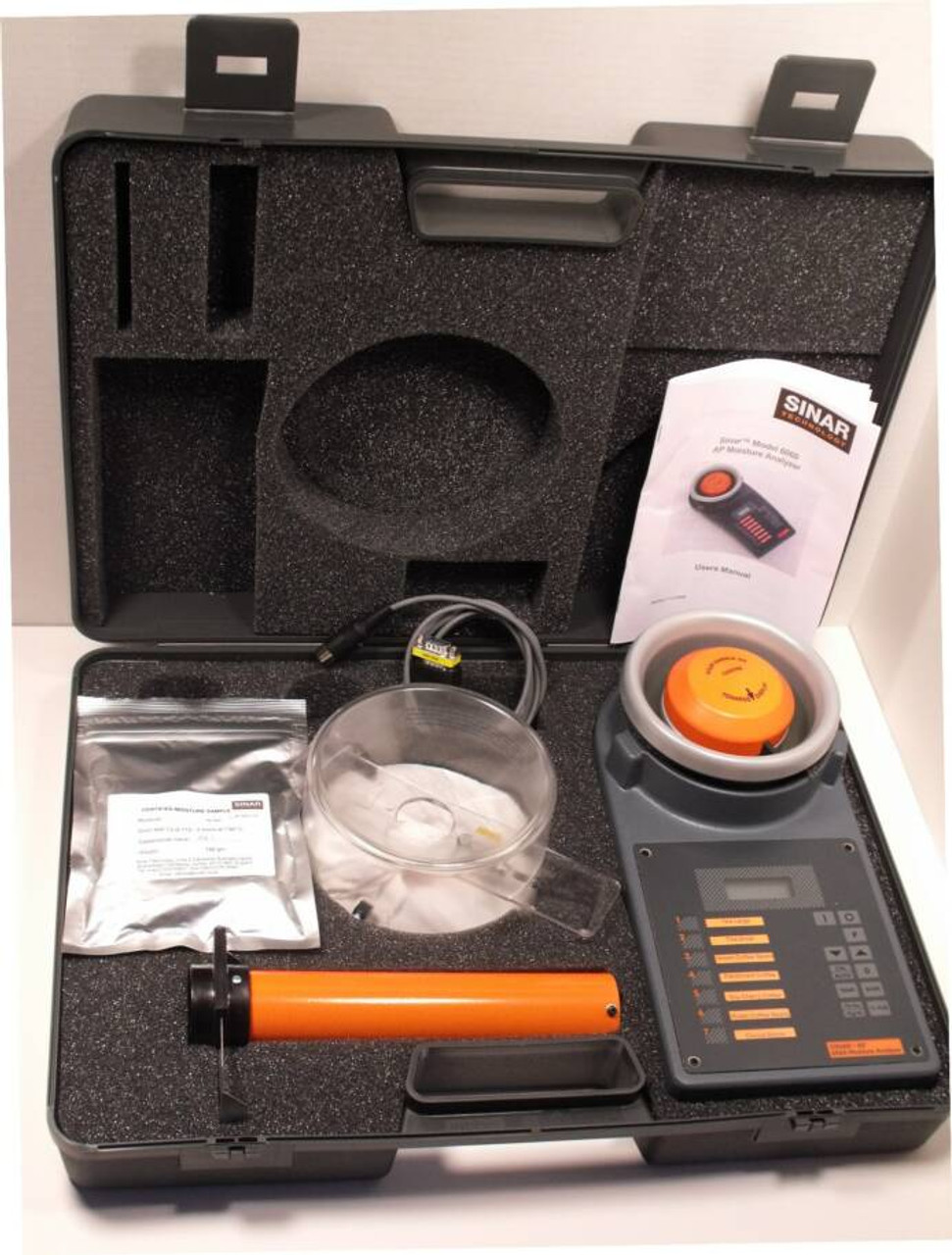 COMPLETE WITH CASE, LOADING HOPPER, CALIBRATION SAMPLE
