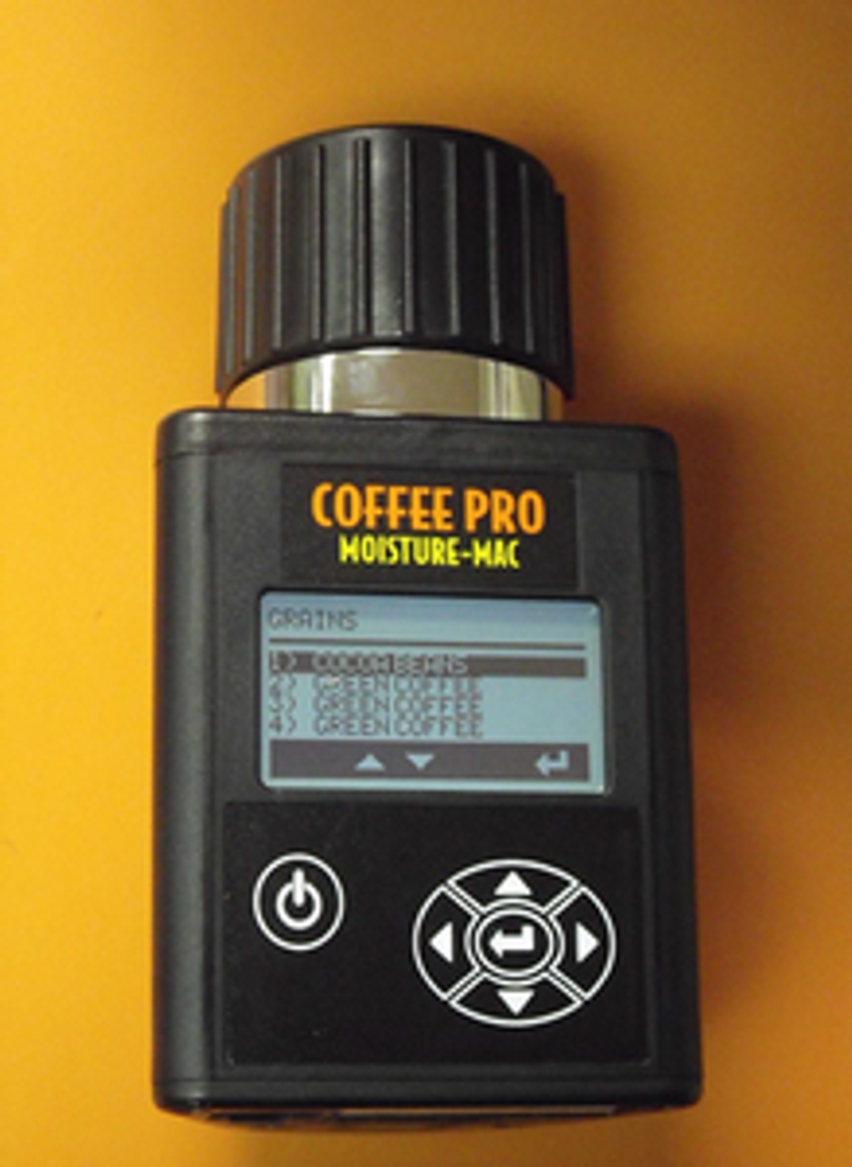 SPECIFICATIONS:  Operating Range (Moisture): 5% to 40% depending on coffee tested in ten seconds.   Operating Range (Temperature):     32° - 113° F (0° - 45° C).   Repeatability:                     +/- 0.5% in normal moisture range   Accuracy:                          +/- .05% in normal moisture range    Display Resolution:                0.1% moisture.   2 year warranty in North America and 1 year overseas.   NEWLY REVISED COFFEE CURVES