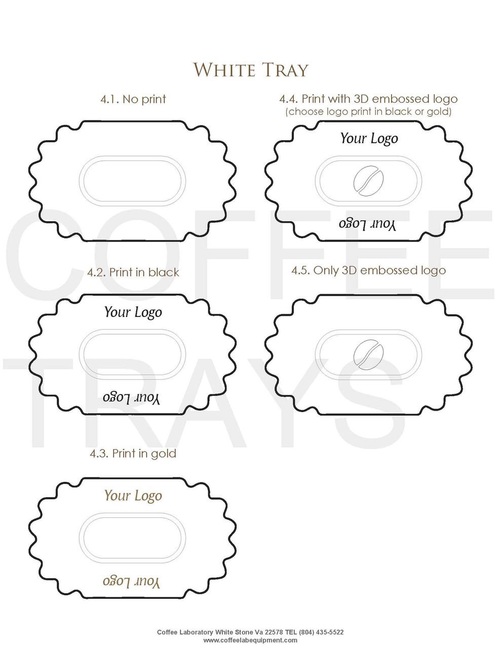 High quality White Polystyrene Sample Trays