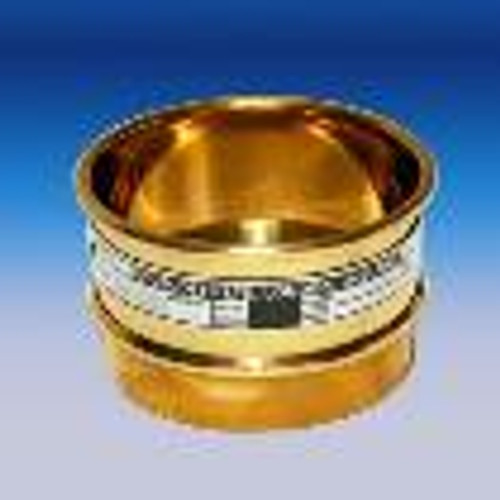 SIEVE ASTM E 11 COMPLIANCE GRADE THREE INCH DIAMETER CERTIFIED BRASS SIEVE US STD .032 mm__ASTM #450__TYLER na