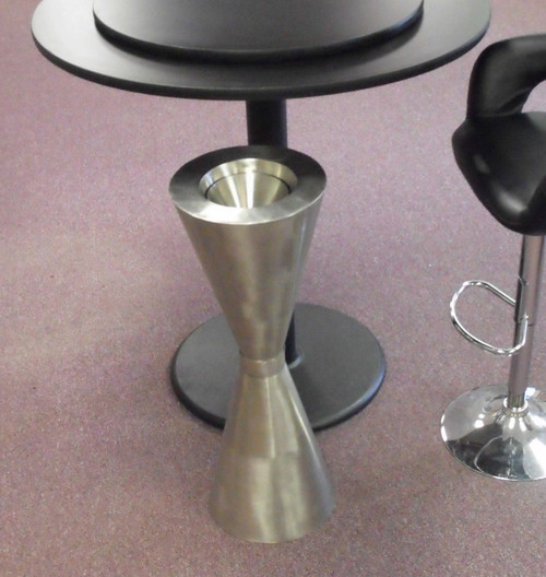 TASTERS SPITOON 304 STAINLESS STEEL  DETACHABLE MIDDLE WITH FUNNEL