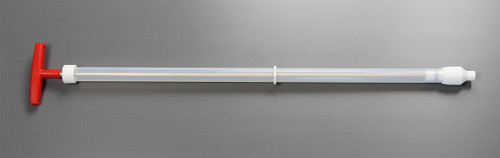 Viscous Sampler - Maximum Sample Volume 160 ml Reusable Sampler for creams, pastes & gels  Material of Construction: PTFE & FEP (for product contact parts) Diameter of Outer Tube: 25mm Max. Diameter of Tip: 33mm Overall Length: 765mm Nominal Weight: 525g  Ideal for sampling creams, shampoos, soaps, honey and other semi viscous materials. After sampling the sampler can be completely dismantled into its component parts for quick and thorough cleaning.