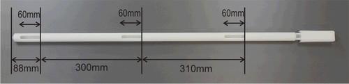 Description Disposable Slot Sampler – 1000mm Material of Construction: High Density Polyethylene (HDPE) - virgin • Conforms to FDA CFR 177.1520 • Conforms to EU Regulations 10/2011 • Conforms to EC Regulations 1935/2004
