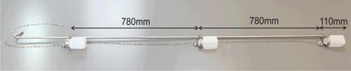 Part No. 675 5045A2000 Description MultiDipper 2 – 2000mm Material of Construction: Frame: 316 stainless steel Chain: 316 stainless steel Shackles: 316 stainless steel Bottle Lids: 316 stainless steel Bottles (675 8165A250) HDPE Max. Width: 115mm Overall Length (sampler & bottles): 2020mm No. of Sample Bottles: 3 Bottle Positions: External Finish: <1 Micron Ra Nominal Weight of Sampler & empty bottles: 3.1Kg