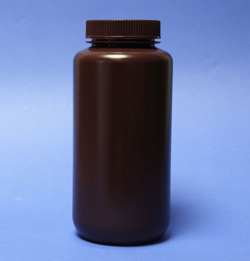 Description Wide Mouth HDPE Bottle 1000ml Amber Materials of Construction: Bottle HDPE (conforms to FDA 177.1520 & USP Class VI) Cap PP (conforms to FDA 177.1520 & USP Class VI) Manufacturing Environment: Controlled environment within factory Nominal Volume: 1000ml Brimful Volume: 1075ml Nominal Height: 201mm Diameter: 92mm Internal Neck Diameter: 52mm Weight: 102g Pack Size: 24 bottles per case Method of Sterilization: N/A (these bottles are non-sterile) BSE/TSE Free: Yes Supplied with lid screwed on: Yes