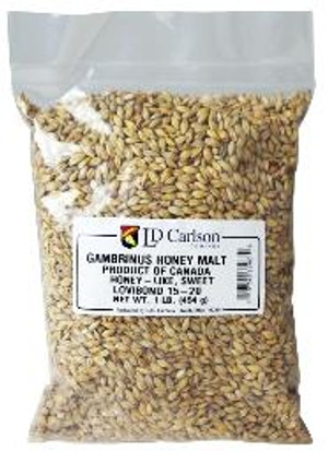 """This malt is similar in style to German """"brumalt"""", but it really doesn't compare to any other malt with its honey-like taste and residual sweetness. Best used in brown ales, porters, and stouts. Typical Color: 15 - 20 Flavor contributions: honey-like sweet"""