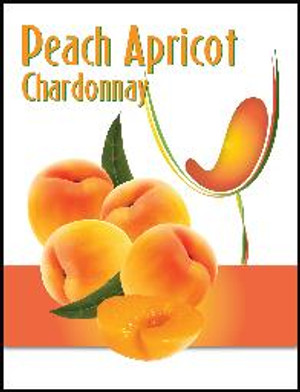 Peach Mist Wine Labels 30/Pack. For use with Island Mist Peach Apricot Chardonnay.