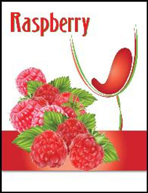 Raspberry Wine Labels 30/Pack. For use with Island Mist Black Raspberry Merlot.