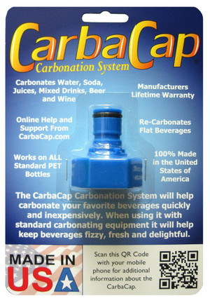 The CarbaCap will help you carbonate water, beer, wine, homemade soda, mixed drinks and even health drinks to your desired fizziness. With the CarbaCap's tried and true methods you can easily perfect any beverage you design.