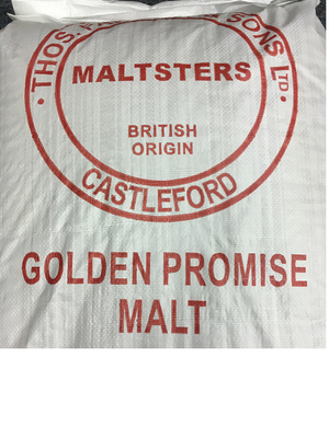 Golden Promise is a Pale Ale Malt grown in Scotland. It produces a sweet, mellow wort and is excellent for both brewing and distilling.