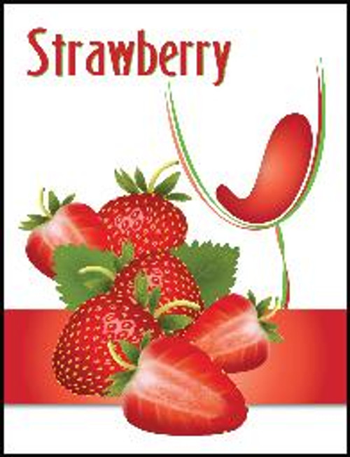 Strawberry Mist Wine Labels 30/Pack. For use with Island Mist Strawberry White Merlot.
