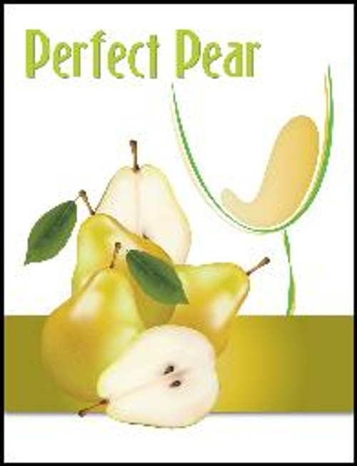 Perfect Pear Mist Wine Labels 30/Pack. For use with Island Mist Pineapple Pear Pinot Grigio or Kiwi Pear Sauvignon Blanc.