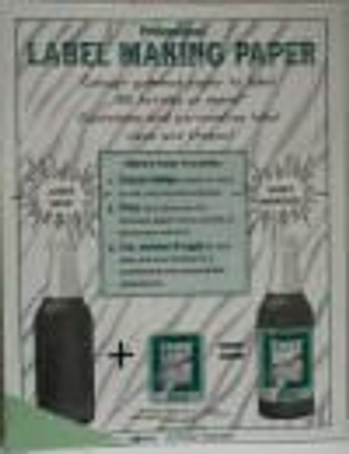 Green Label-Making Paper