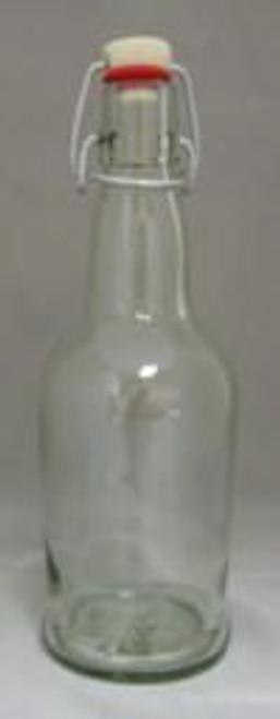 Clear 16 Oz. Flip-Top Bottles