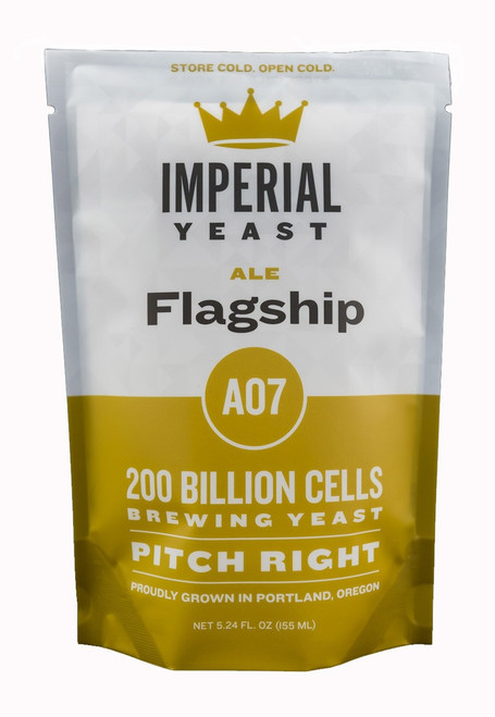 Flagship is a versatile strain loved for its extremely clean character. This strain performs well at standard ale temperatures but can be used in the low 60s to produce exceptionally crisp ales. Flocculation is in the middle of the road and will typically require filtration or fining to achieve crystal clear beers.  Temp: 60-72F, 16-22C // Flocculation: Med-low // Attenuation: 73-77%
