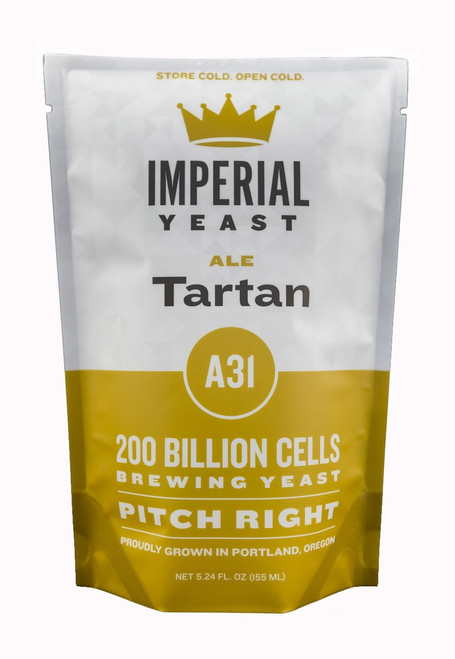 Tartan is a traditional strain that accentuates the malt character of Scottish ales.  It can also be used for other styles and works well in IPAs due to its clean character.  For a higher ester profile, use this ale yeast at the top end of the temperature range.  Temp: 65-70F, 18-21C // Flocculation: Medium // Attenuation: 70-75%
