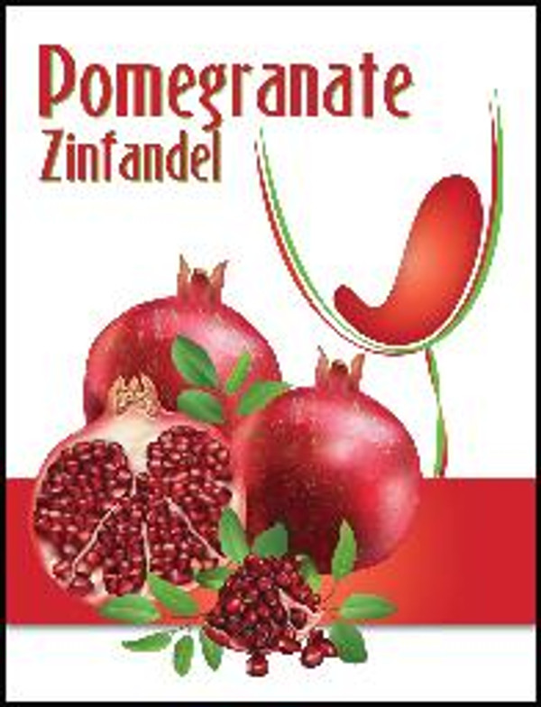 Pomegranate Mist Wine Labels 30/Pack. For use with Island Mist Pomegranate Zinfandel.