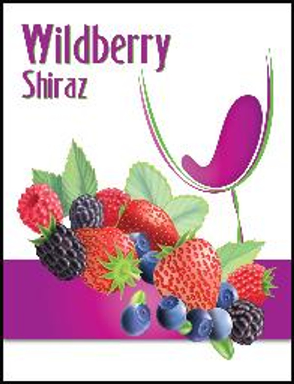 Wildberry Mist Wine Labels 30/Pack. For use with Island Mist Wildberry Shiraz.