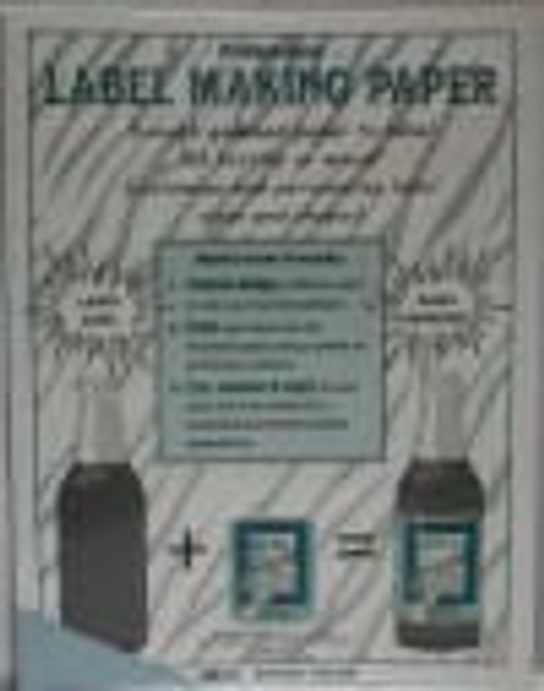 Blue Label-Making Paper
