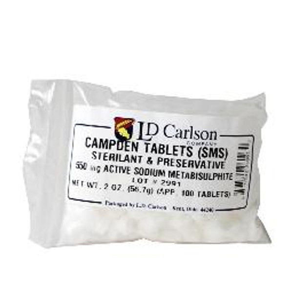 Use one tablet per gallon, two crushed tablets equal 1/4 teaspoon. Contains sodium metabisulfite and is a convenient way to accurately sulphite wine. Releases sulphur dioxide, which acts as a sterilant and antioxidant.
