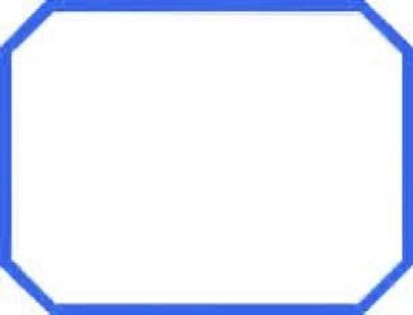 Labels, Large Bevel - Blue
