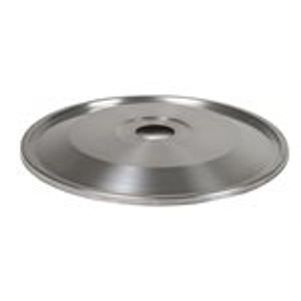 This Brewers Edge stainless lid features a built in silicone seal, and seals tightly to the Mash & Boil lid clips. This has a 47mm hole in the center for attaching a still.