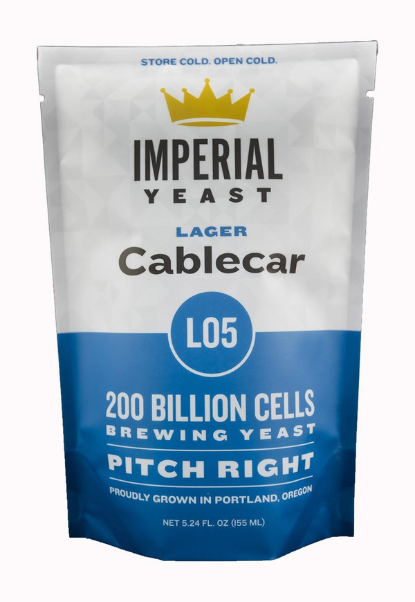 """This strain is for fermenting your """"California Common"""" beer. Cablecar can produce clean pseudo lagers at ale temperatures but is also willing to work as a traditional lager strain down to the mid-50s.  Temp: 55-65F, 13-18C // Flocculation: Med-high // Attenuation: 71-75%"""