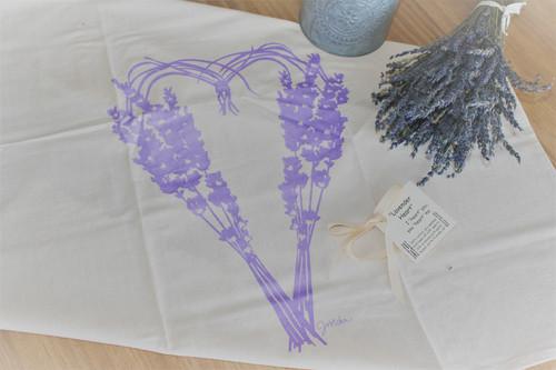 Lavender Heart Dishtowel by JMohr