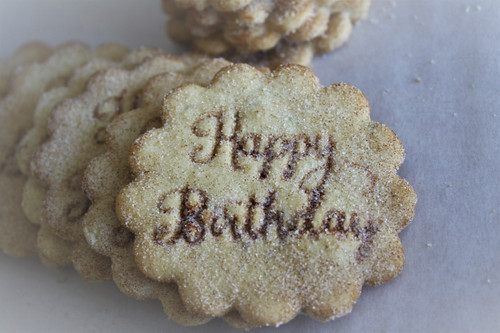 "1 Dozen Traditional ""Happy Birthday"" Biscochitos"